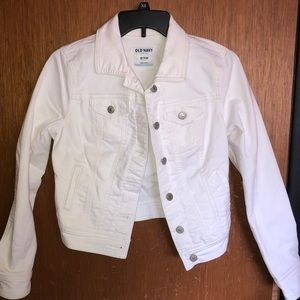 Super Cute White Denim Jacket